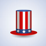 United States Flag Colored Hat American Symbol Flat Royalty Free Stock Photography