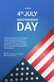 United States Flag With Copy Space Independence Day Holiday 4 July Banner. Flat Vector Illustration vector illustration