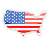 United States Flag Country Contour Vector Icon Stock Photography