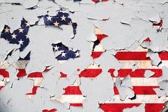 United States of America cracked flag royalty free stock photo