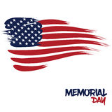 United States flag designed with brush strokes for Memorial Day. An abstract representation of United States flag designed with brush strokes for Memorial Day on Royalty Free Stock Image