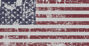 United States Flag. Distressed Flag Of United States Of America. EPS10 vector Stock Image