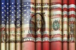 United States Flag Dollar Stock Image
