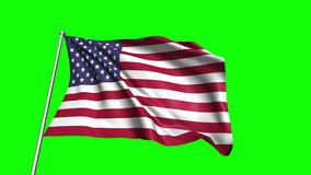 United States flag stock video