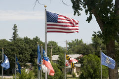 United States Flag Flying Stock Images