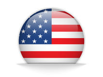 United States Flag Glossy Button Stock Images