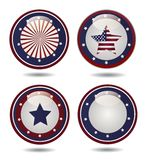 United States Flag Glossy Buttons. Vector Royalty Free Stock Photography