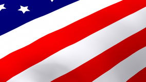 United States Flag. HD 3d Flag of the united States stock footage