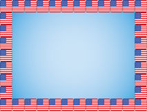 United States flag icons border Royalty Free Stock Images