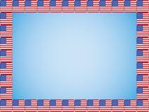 United States flag icons border Royalty Free Stock Images