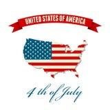 United States flag Royalty Free Stock Photo