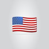 United States Flag. Made in vector Royalty Free Stock Image
