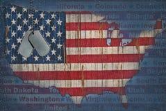 United States flag map royalty free illustration