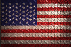United States flag,metal texture on background Royalty Free Stock Photo