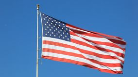 United States flag stock video footage