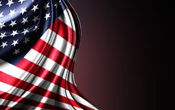 United States flag. Nationals flags of world country turning stock photo