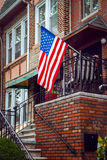United States flag on an old vintage porch Stock Photography
