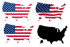United States Map Flag With Grunge Royalty Free Stock Photography - Us map with glag
