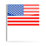 United States Flag Pin Vector Icon Stock Photography