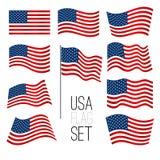United States flag set Royalty Free Stock Image