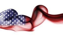 United States flag smoke isolated on a white background. United States flag smoke, US flag isolated on a white background Stock Image