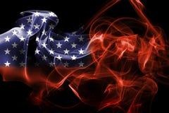 United States flag smoke Royalty Free Stock Photos