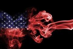 United States flag smoke Royalty Free Stock Image
