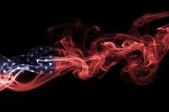 United States flag smoke. US flag isolated on a black background Stock Image