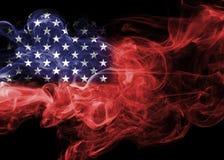 United States flag smoke Stock Photography