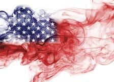 United States flag smoke. US flag isolated on a white background Royalty Free Stock Photography