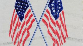 United States Flag - Stars and stripes stock footage