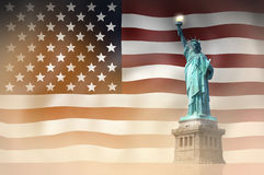 United States flag Statue of Liberty Royalty Free Stock Photo