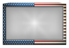 United States Flag Television Royalty Free Stock Photography