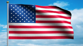 United States Flag USA. American USA Flag swaying on the wind stock video footage