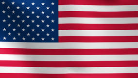 United States Flag USA. American USA Flag swaying on the wind, looped stock video