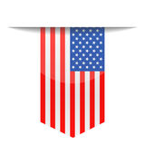 United States Flag Vector Bookmark Icon Royalty Free Stock Photos