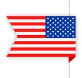 United States Flag Vector Bookmark Icon Royalty Free Stock Photo