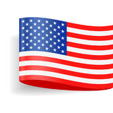 United States Flag Vector Label Tag Icon Stock Images