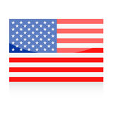 United States Flag Vector Icon Royalty Free Stock Images