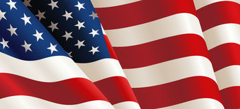 United States Flag Vector Stock Photo