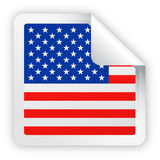United States Flag Vector Square Corner Paper Icon Royalty Free Stock Photos