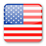 United States Flag Vector Square Icon Royalty Free Stock Photos