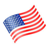 United States Flag Vector Waving Icon Royalty Free Stock Images