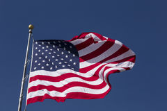 United States Flag. A United States Flag waving in the breeze Stock Photos