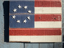 United States Flag on wood Stock Photography
