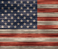 United States flag Wood texture Stock Image