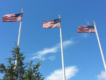 United states flags. Stock Photo