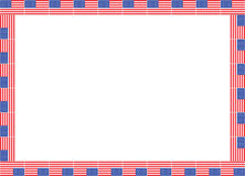 United States flags frame Stock Photos