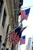 United States flags in New York Stock Photos