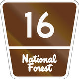 United States Forest Highway Royalty Free Stock Photography